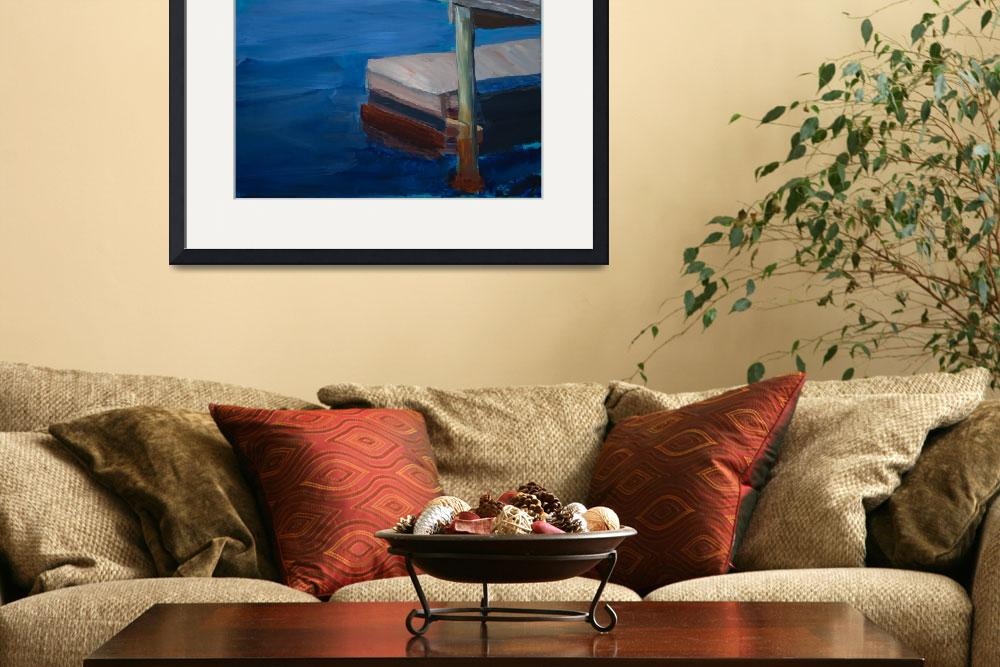 """Currituck Dock&quot  by WrightFineArt"
