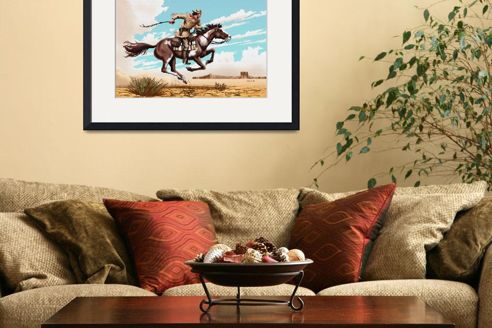 """Pony Express Rider&quot  (2006) by walt-curlee"