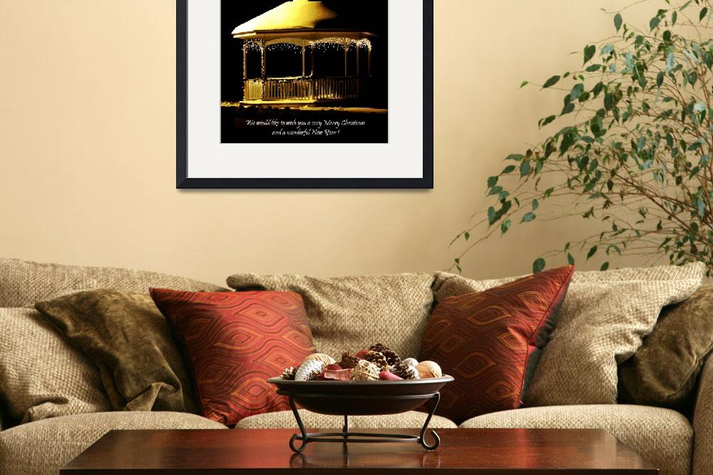 """Gazebo  Grafton, Ma&quot  (2008) by bavosiphotoart"
