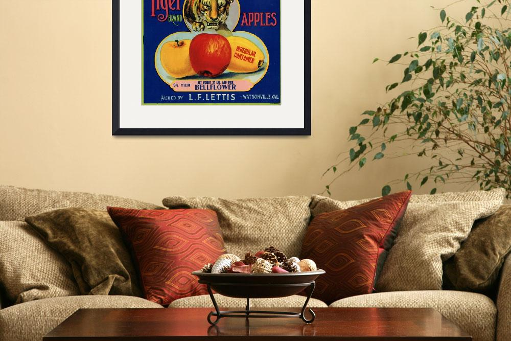 """Tiger Apple Advertising Art&quot  (1940) by LABELSTONE"