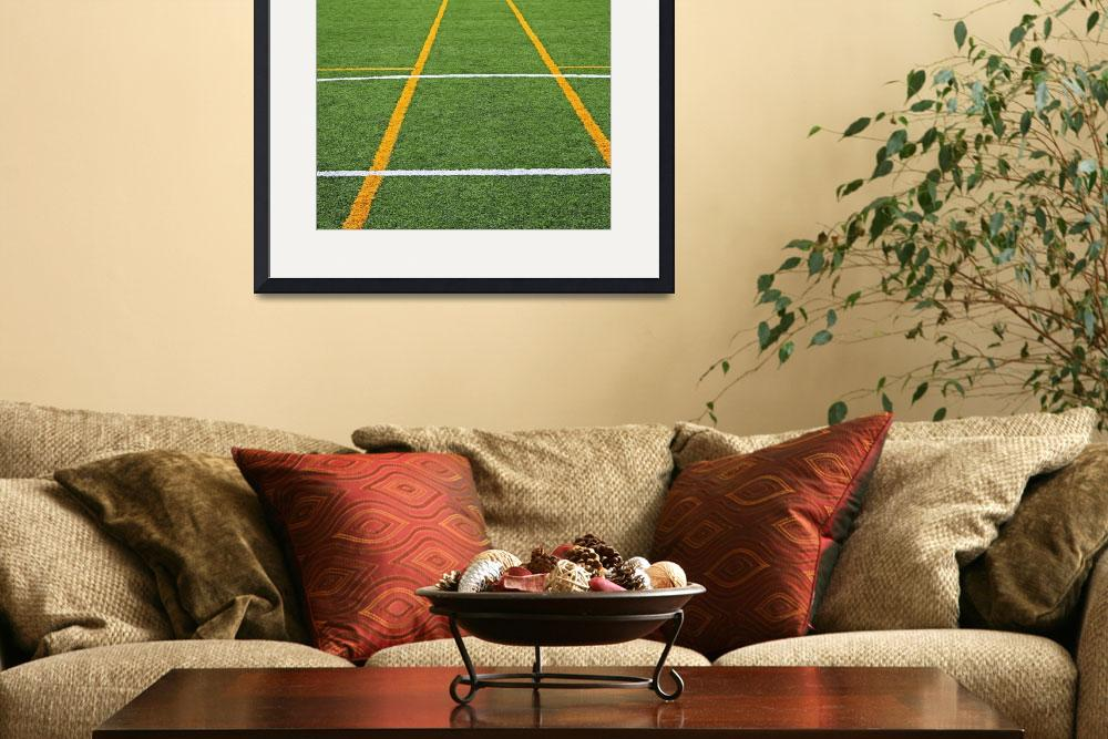 """soccer field&quot  (2010) by nathangriffith"