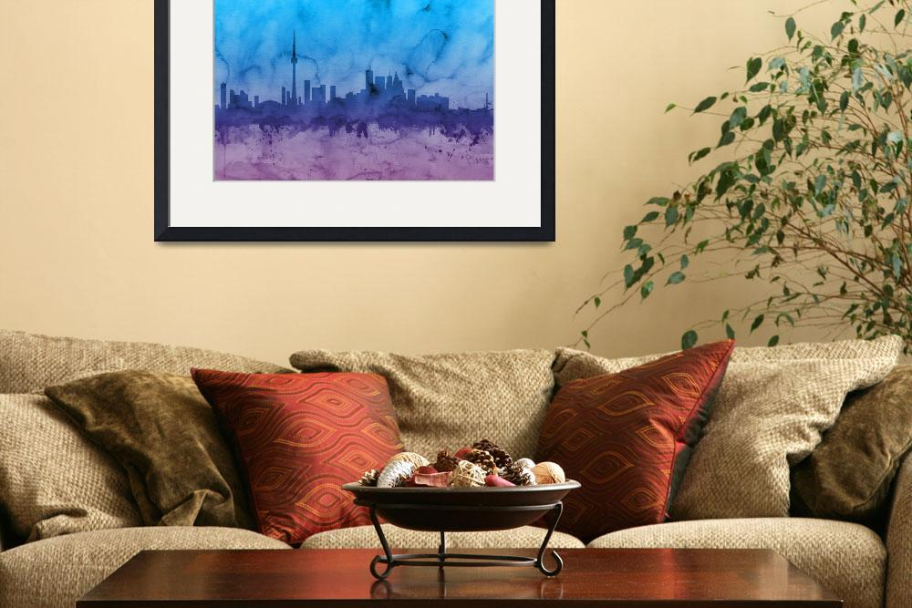 """Toronto Canada Skyline&quot  (2014) by ModernArtPrints"