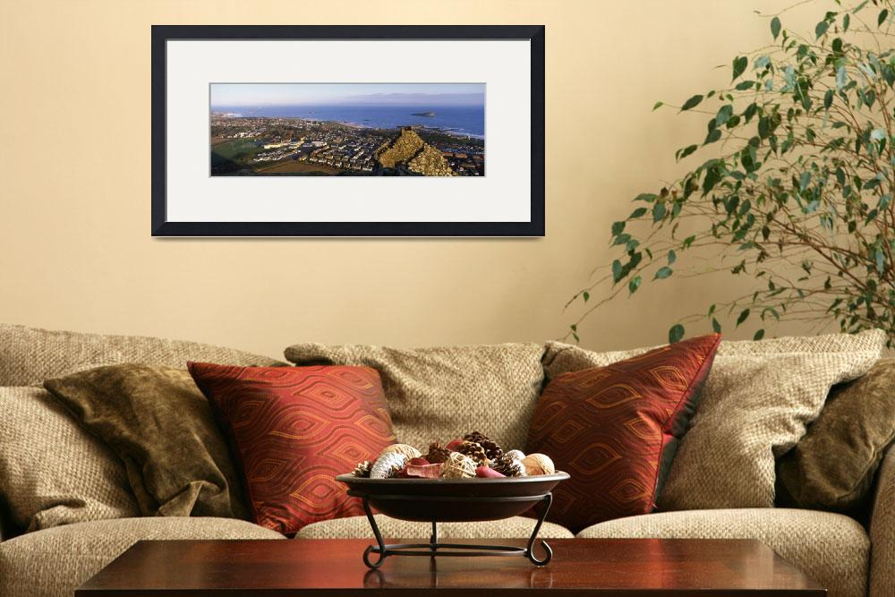 """High angle view of a town North Berwick East Loth&quot  by Panoramic_Images"