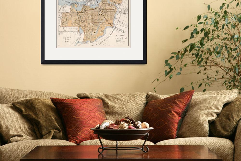"""Vintage Map of Ottawa Canada (1915)&quot  by Alleycatshirts"