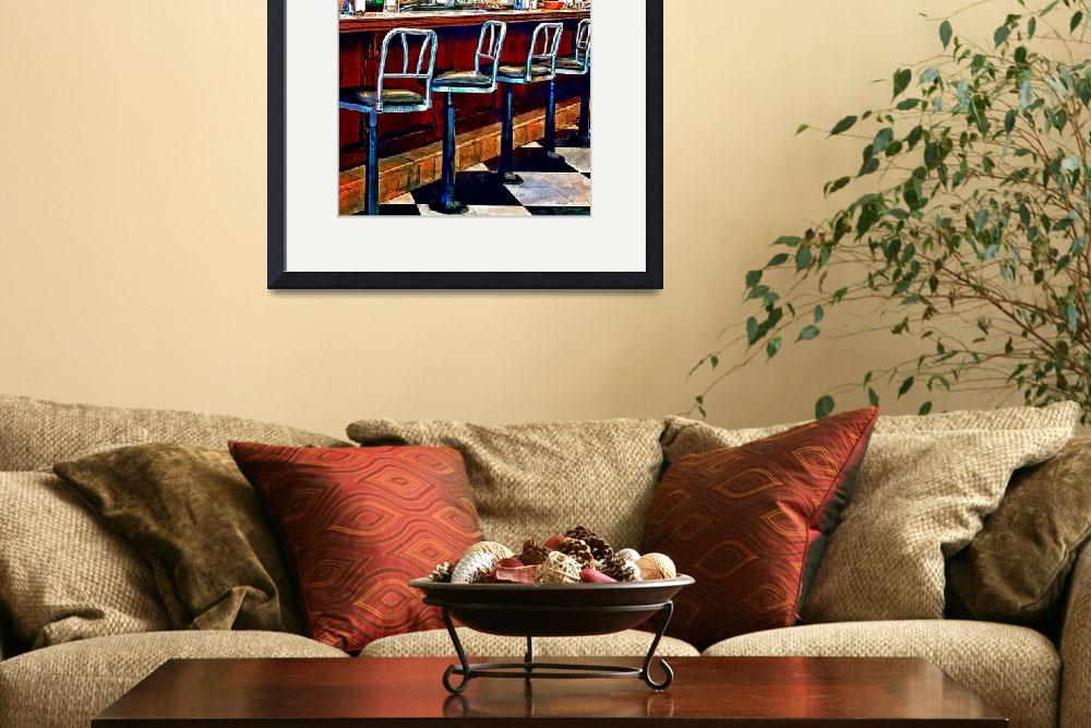 """Candy Store With Soda Fountain&quot  by susansartgallery"