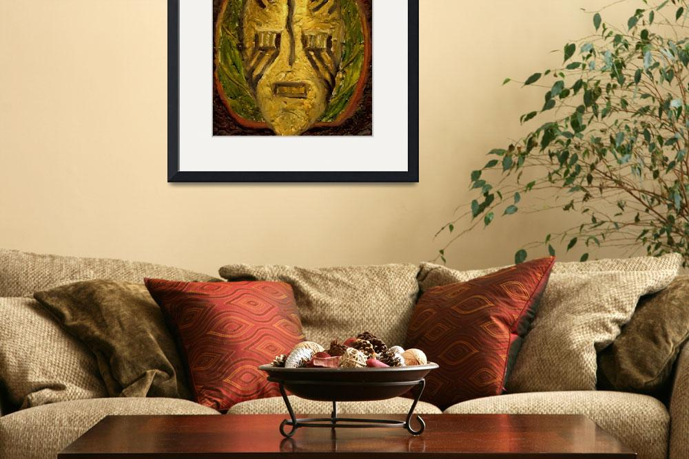 """African Mask Series Leaf&quot  (2009) by fineartbyjane"