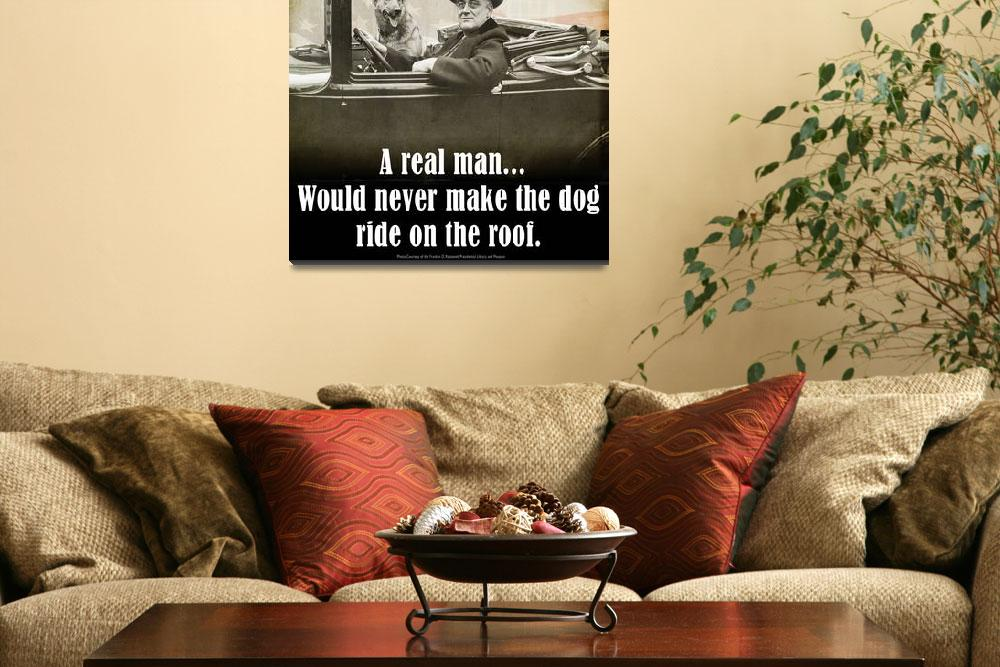 """A REAL man -- FDR and his dog&quot  (2012) by rchristophervest"