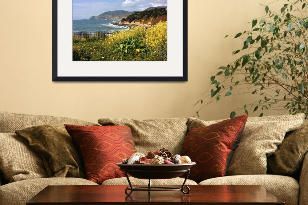 """California Wildflowers and Coastline&quot  by Groecar"