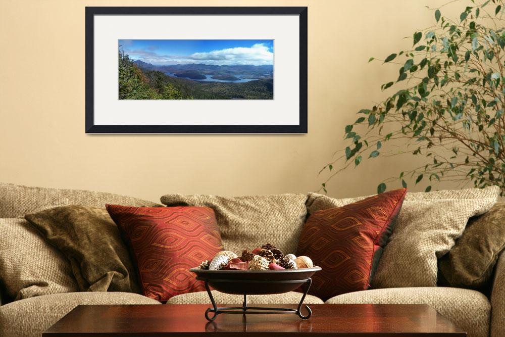 """Whiteface Mtn/Lake Placid from McKenzie Mtn&quot  by BurningLightPhotography"
