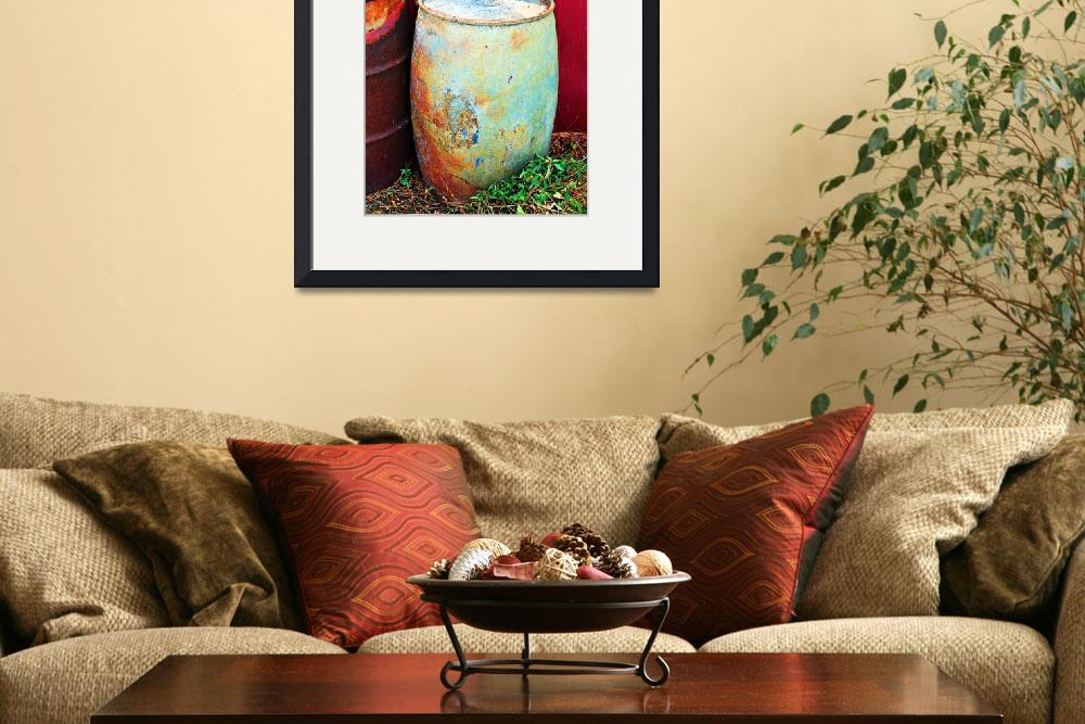 """Funky Old Rain Barrel&quot  (2010) by lifeoverhere"