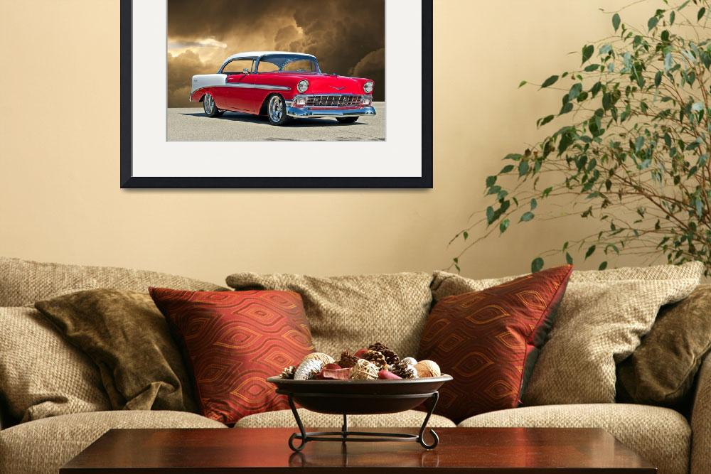 """1956 Chevy Bel Air&quot  by FatKatPhotography"