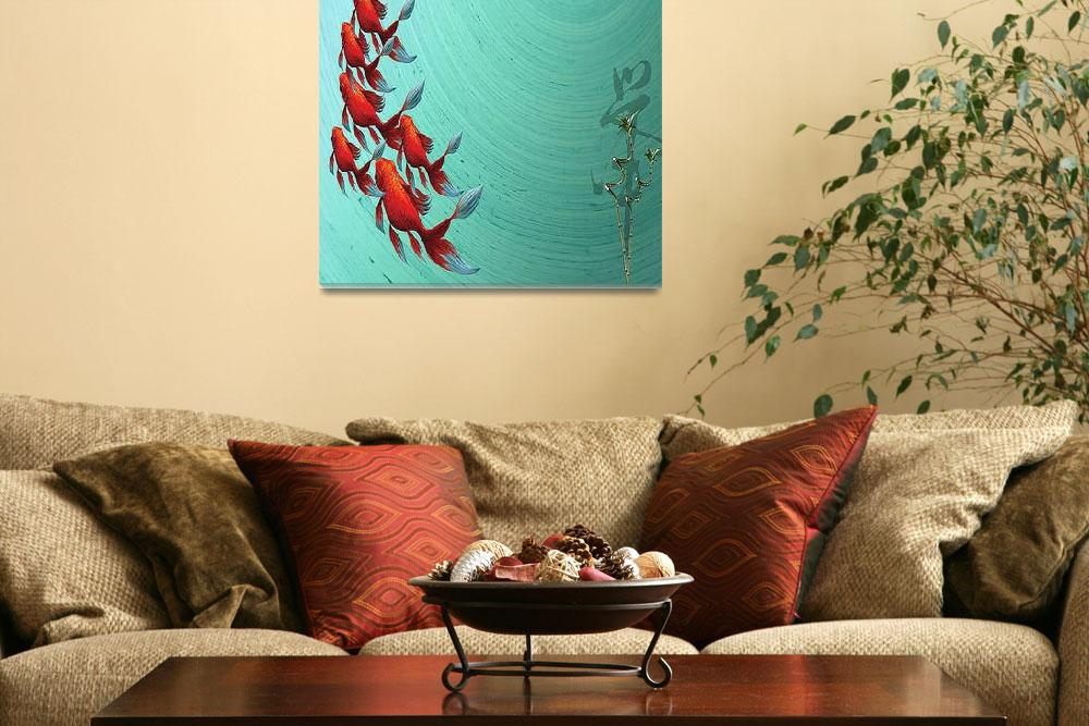 """Koi Painting&quot  (2011) by swagmaven"