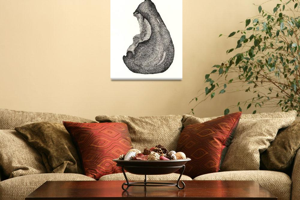 """Pen & Ink Fine Artwork Of A Pear&quot  (2011) by drawingwithdots"
