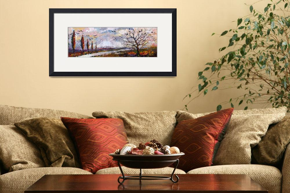 """Impressionist Panoramic Autumn Landscape&quot  (2009) by GinetteCallaway"