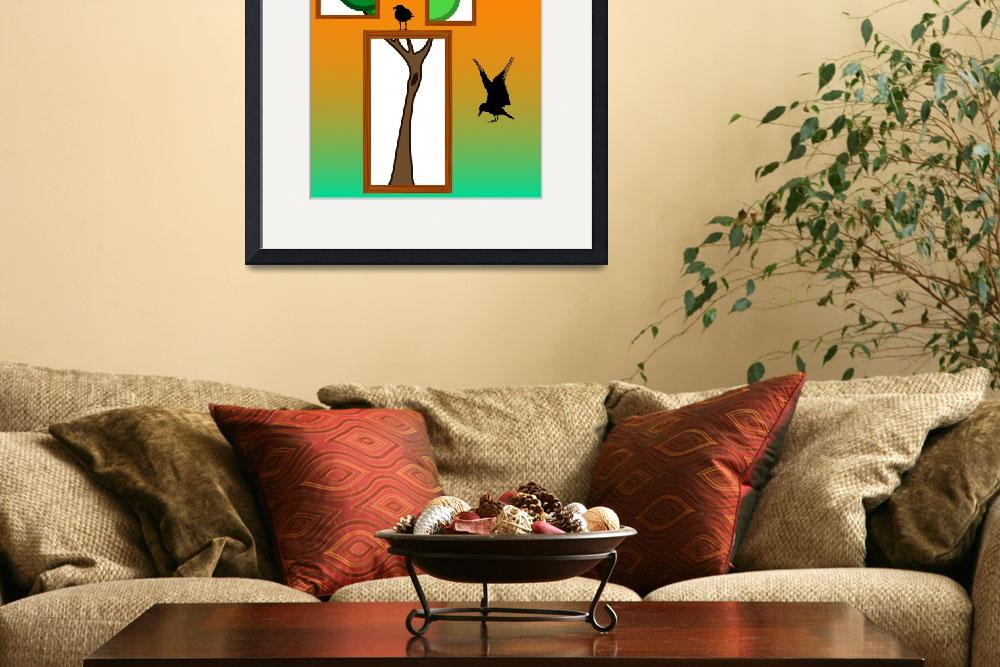 """abstract tree with birds design&quot  by robertosch"