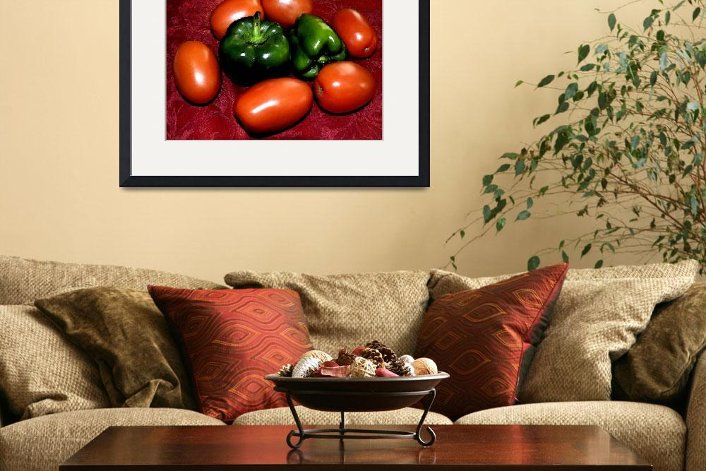 """Plum Tomatoes and Bell Peppers&quot  (2009) by digitalife"
