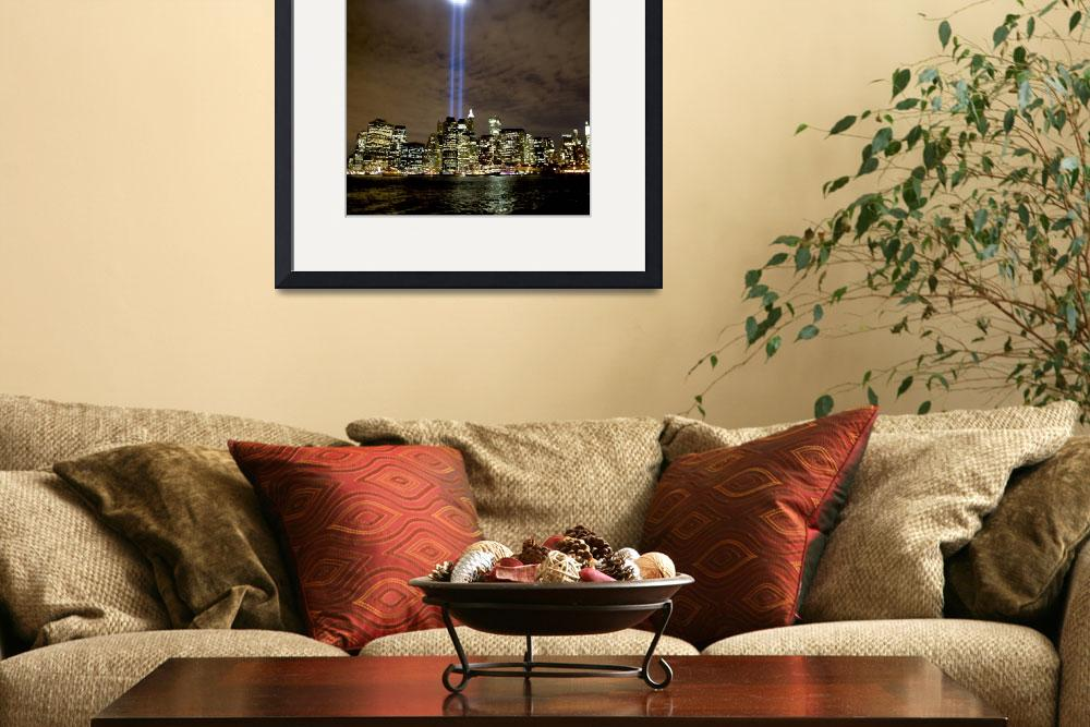 """Tribute in Light on September 11 over NYC&quot  (2008) by New-Yorkled"
