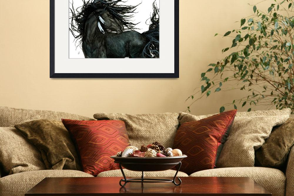 """Friesian - Majestic Horses&quot  (2014) by AmyLynBihrle"