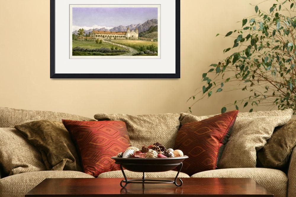 """Santa Barbara Mission H.C. Ford&quot  by lookbackart"