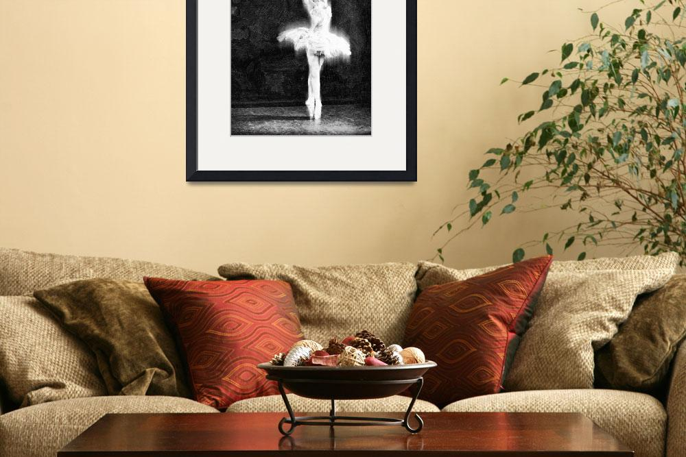"""Ballet Dancer Extended Black and White&quot  (2014) by RubinoFineArt"