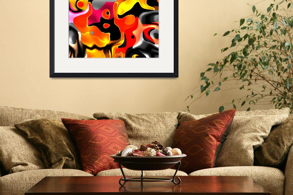 """ZIZZAGO Art Abstract Multi Color World 2A&quot  (2010) by shanmaree"