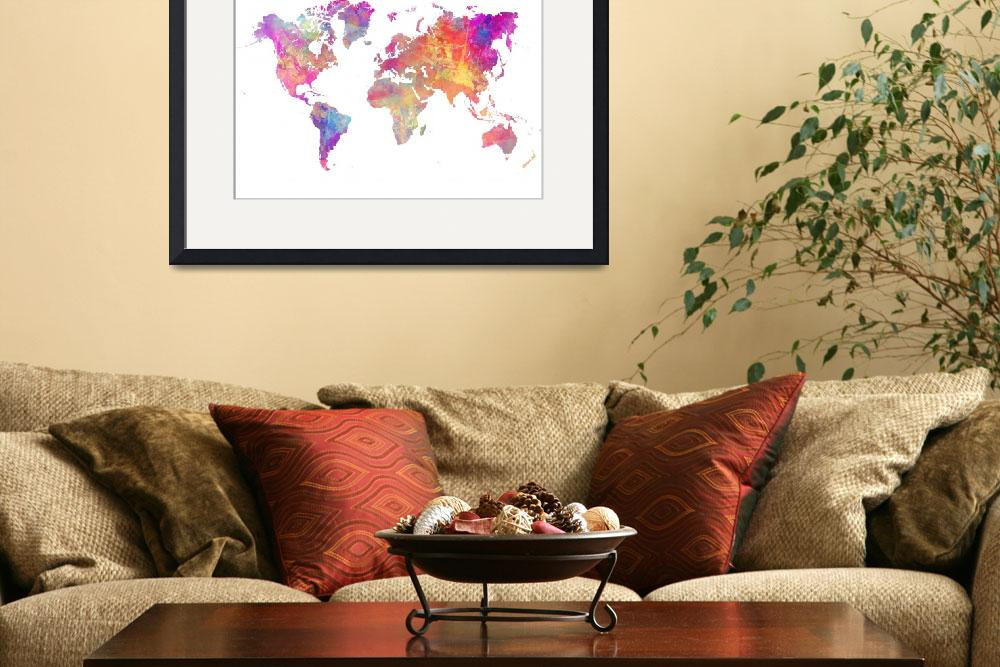 """Map of the world pastel&quot  (2015) by JBJart"