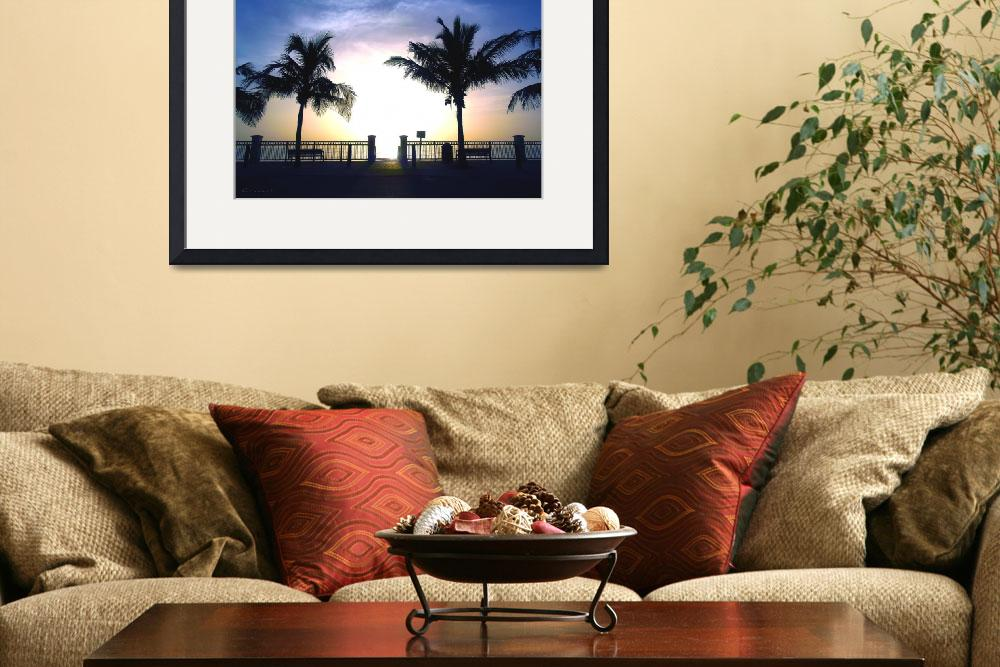 """Tropical Sunrise Seascape Vero Beach Florida B1&quot  (2015) by Ricardos"