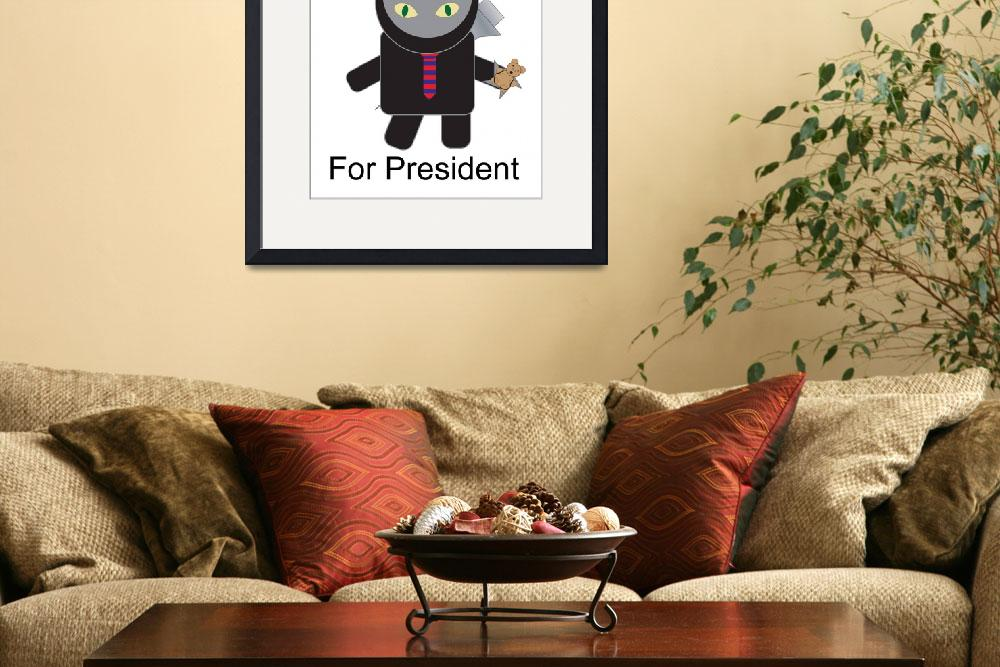 """Ninja Kitty for President&quot  (2011) by ValeriesGallery"