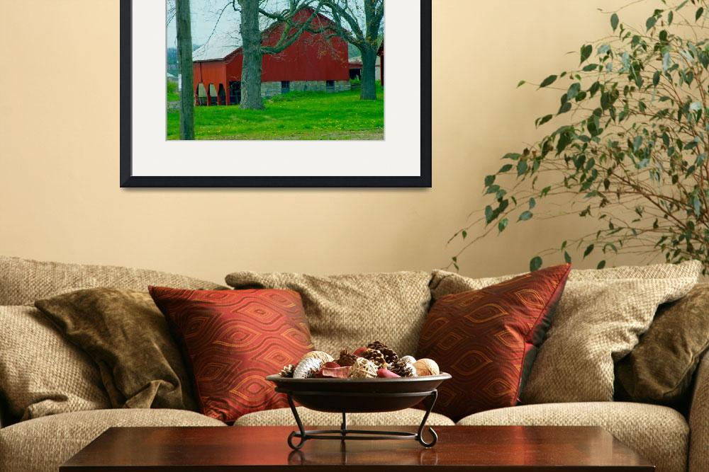 """Barn in Red&quot  (2009) by TheCanvas"
