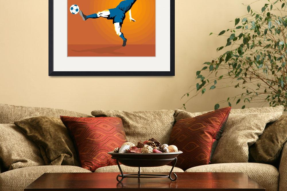 """Soccer Player Kicking&quot  (2013) by patrimonio"