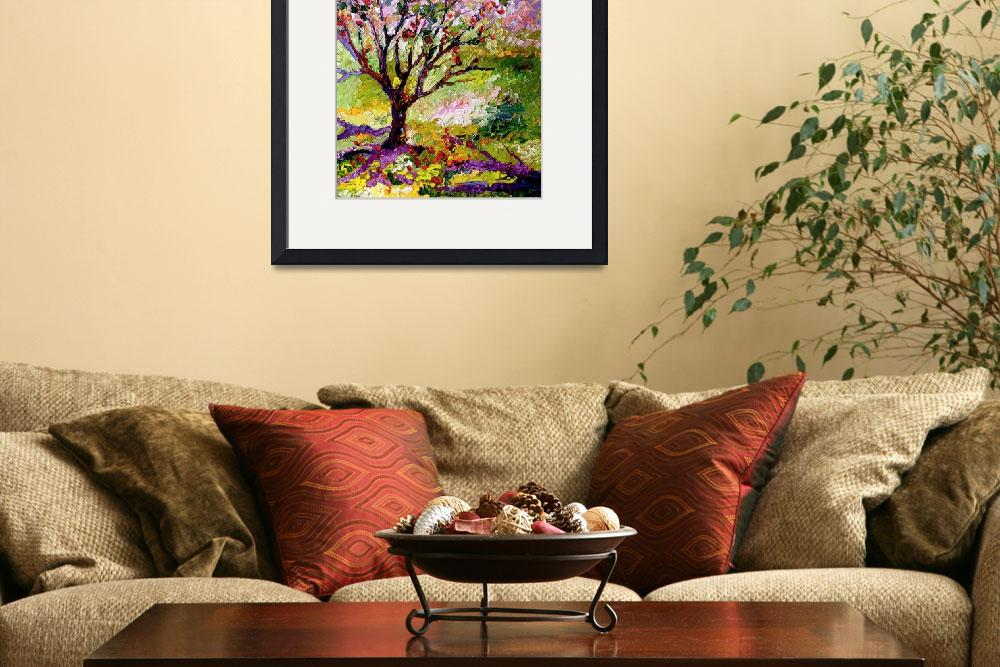 """Grandmas Apple Tree Oil Painting&quot  (2009) by GinetteCallaway"