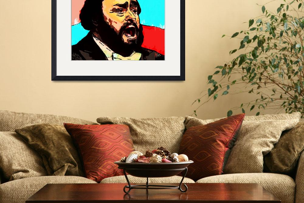 """Luciano Pavarotti&quot  by Vya_Artist"