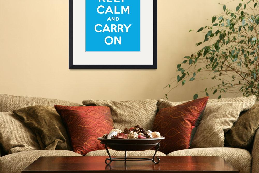 """Blue Keep Calm And Carry On 5&quot  by oldies"
