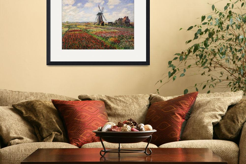 """Tulip Fields with the Rijnsburg Windmill, 1886&quot  by fineartmasters"