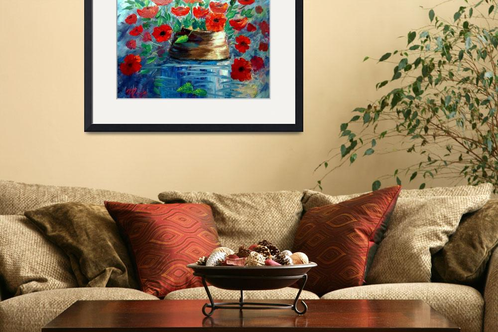 """Poppies and a Clay Pot&quot  (2013) by mazz"
