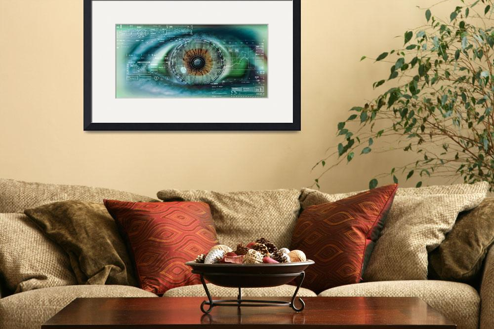 """Close up of an eye with tech diagrams in abstract&quot  by Panoramic_Images"