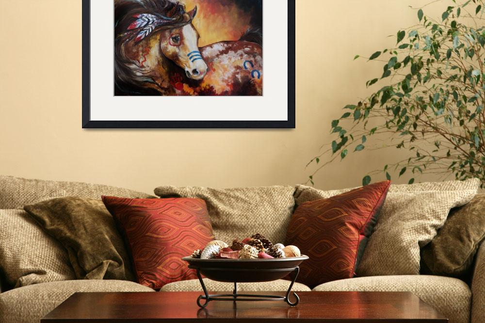 """TOBIANO INDIAN WAR HORSE&quot  (2013) by MBaldwinFineArt2006"