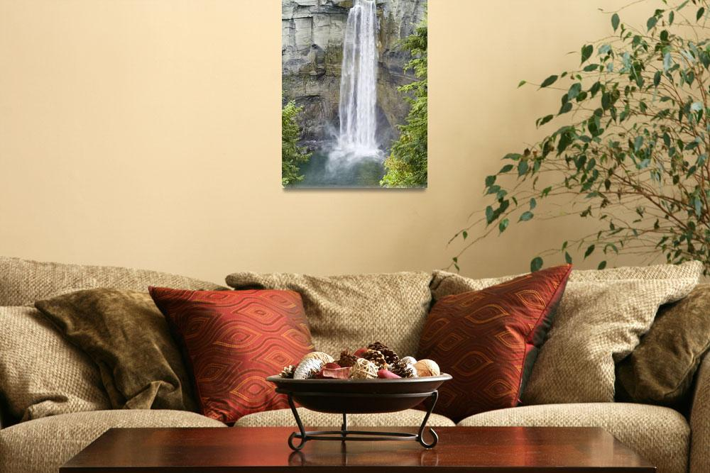 """Taughannock Falls in Spring&quot  (2006) by MichaelStephenWills"