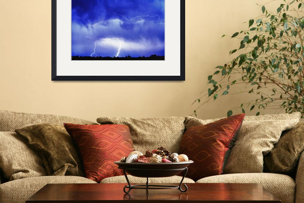 """May Showers Lightning Thunderstorm HDR&quot  (2011) by lightningman"