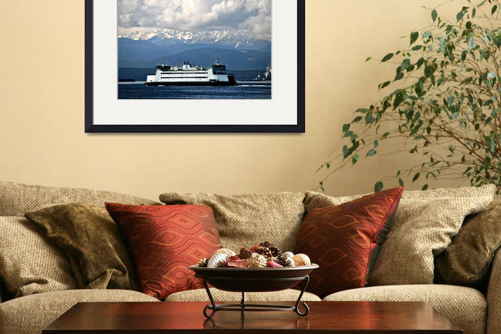 """Ferry & Mountains&quot  by CaptureLife"