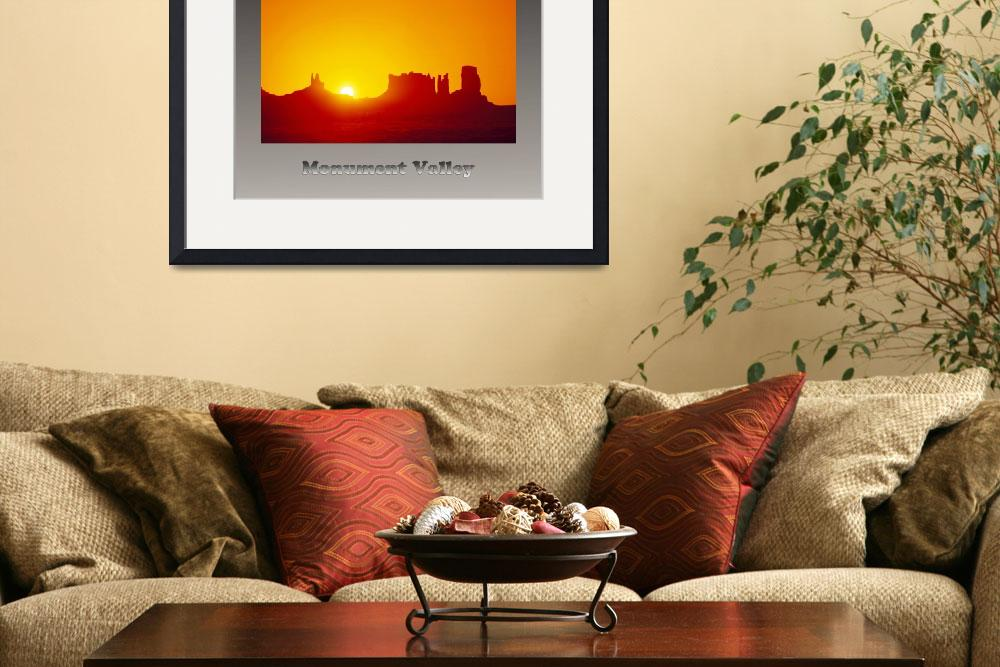 """Poster of Monument Valley Sunrise&quot  by Wilford"