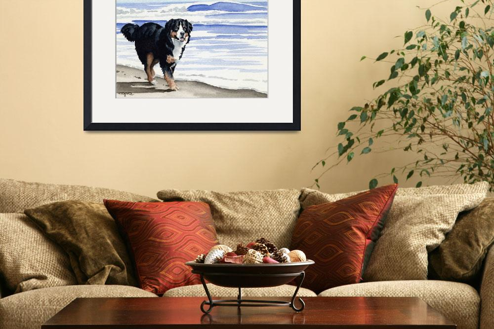 """""Bernese Mountain Dog""&quot  (2007) by k9artgallery"