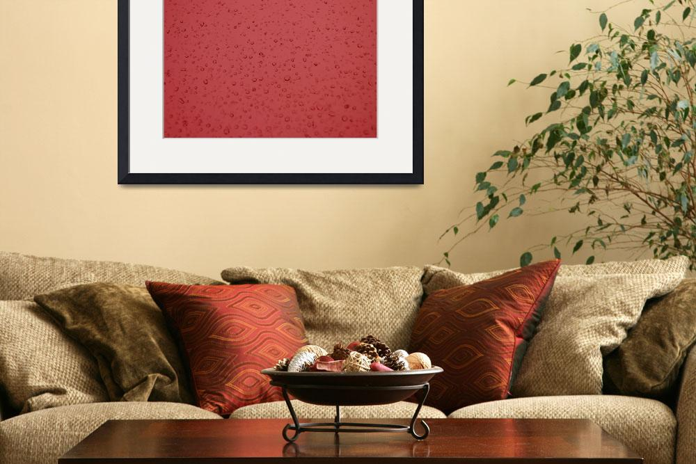 """Droplets of Red&quot  (2010) by jessica-graeber"