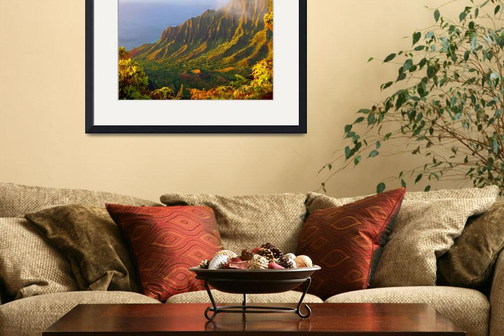 """Kalalau Valley Sunset&quot  (2012) by skystudiohawaii"