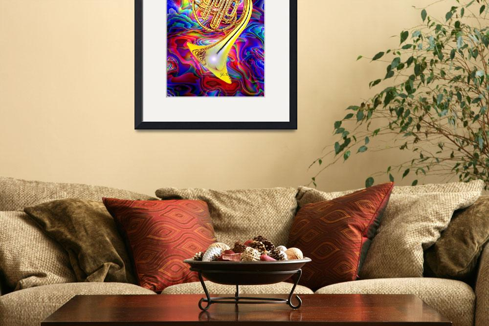 """Psychedelic French horn&quot  (2012) by jt85"