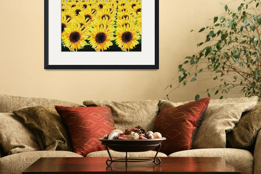 """Happy Sunflowers Field&quot  (2015) by IrinaSztukowski"