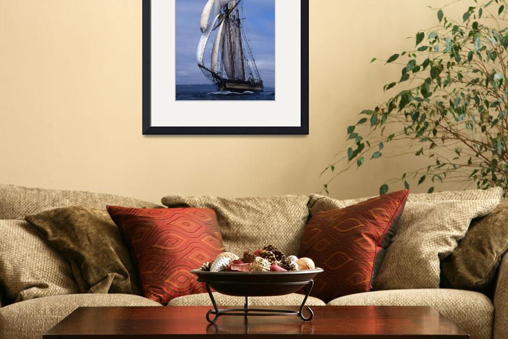"""Topsail Schooner Pride Of Baltimore ll charging ac&quot  by McallenPhotography"