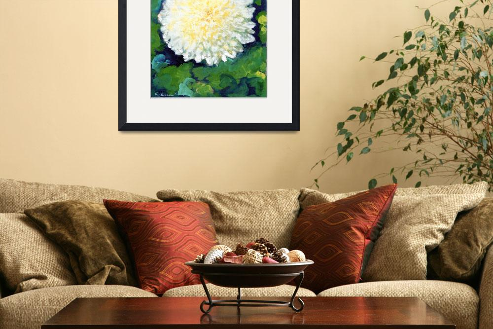 """White Chrysanthemum by RD Riccoboni&quot  (2009) by RDRiccoboni"