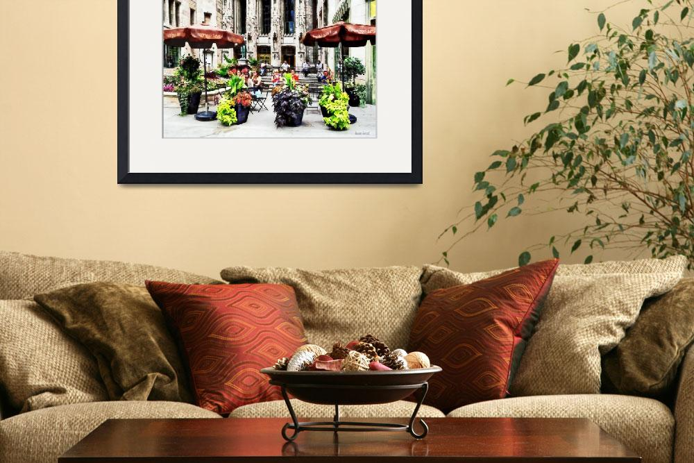 """Chicago - Enjoying Lunch on the Magnificent Mile&quot  by susansartgallery"