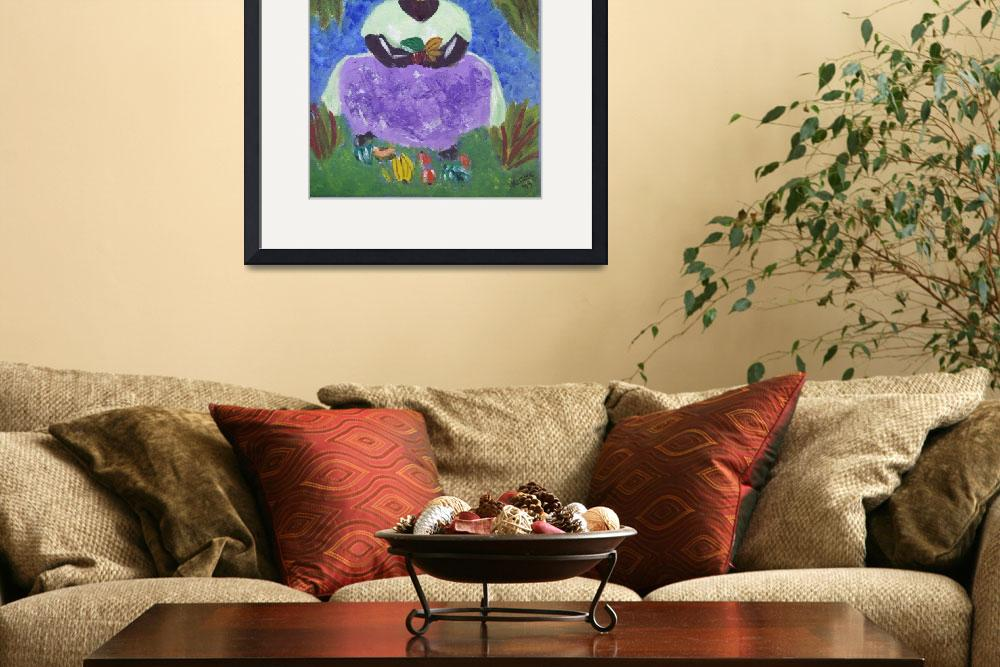 """St. Lucia Caribbean Woman&quot  (2009) by magnoliadorn"